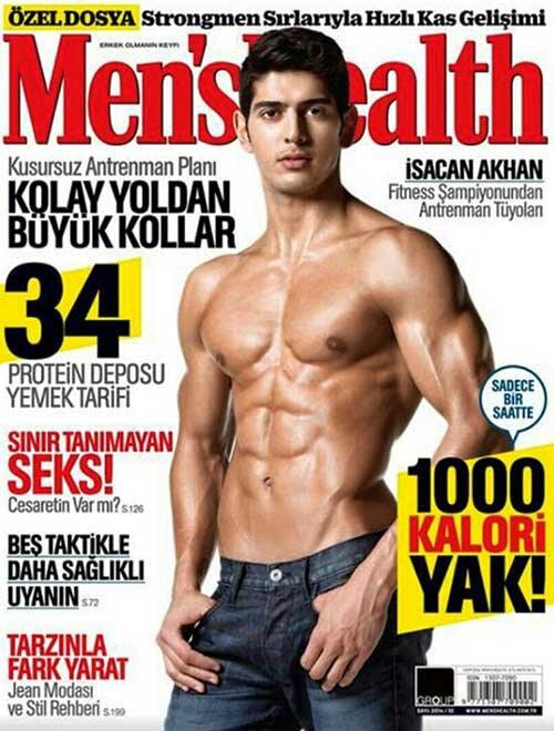 İsacan Akhan'dan antrenman detayları: Men's Health Kapağı