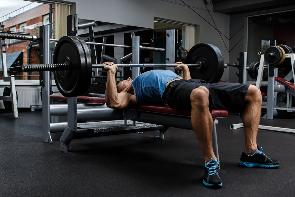 Smith Machine Elbows-Out Close-Grip Bench Press